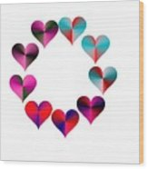 I Heart Rainbows Wood Print