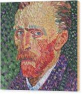 I Heart Van Gogh Portrait Of Vincent Wood Print