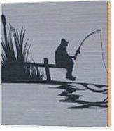 I Like To Fish Wood Print