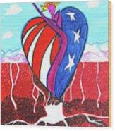 I Love America Wood Print