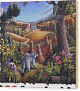 I Love Appalachia - Coon Gap Holler Country Farm Landscape 1 Wood Print