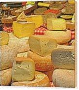 I Love Cheese Wood Print