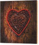 I Love Coffee 4 Wood Print