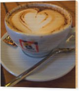 I Love Coffee Wood Print