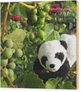 I Love Grapes B Wood Print