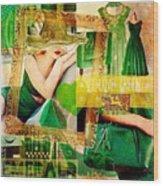 I Love Green Wood Print