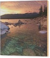 I Love Lake Tahoe Wood Print