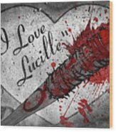 I Love Lucille Wood Print
