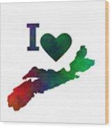 I Love Nova Scotia - Canada Wood Print