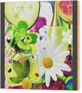 I Love Spring_with Border Wood Print