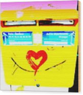 I Love You ... French Mailbox Style  Wood Print