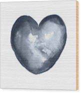 Blue Heart, I Love You Quote Men Women Gift Idea Heart Minimalist Picture Wall Decor Clipart  Wood Print