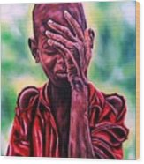 I Must Go On Wood Print by Shahid Muqaddim