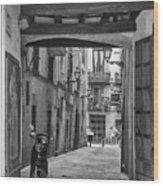 Barcelona Alleys Wood Print