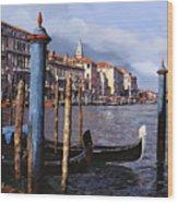 I Pali Blu Wood Print