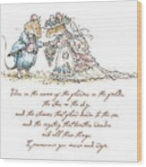 I Pronounce You Mouse And Wife Wood Print