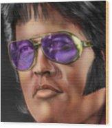 I Remember Elvis Wood Print