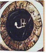 I-ris Eye Was A Pupil  Wood Print