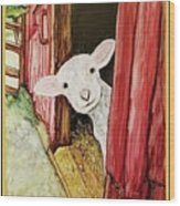I See Ewe Little Lamb Wood Print