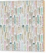 I See Feathers Wood Print