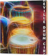 I Sing The Drums Electric Wood Print