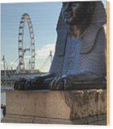 I Sphinx It Is The London Eye Wood Print