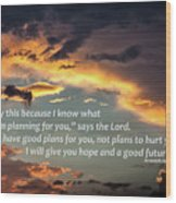 I Will Give You Hope Wood Print