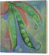 I Wish You Peas Wood Print