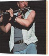 Ian Anderson Of Jethro Tull Wood Print