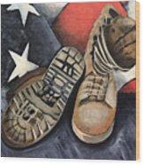 Ians Boots V1 Wood Print