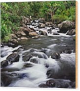 Iao Valley Stream Wood Print