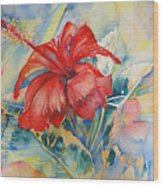 Ibiscus Wood Print