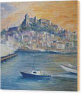 Ibiza Old Town Marina And Port Wood Print