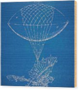 Icarus Airborn Patent Artwork Wood Print by Nikki Marie Smith