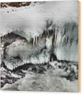 Ice 3 Wood Print