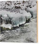 Ice 4 Wood Print