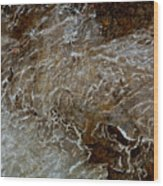 Ice And Rock Abstract Wood Print