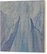 Ice Blue Angel Wood Print