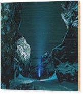 Ice Breaker Star Gazer Wood Print