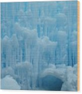 Ice Castles In Lincoln New Hampshire -2 Wood Print