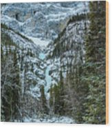 Ice Climbers Approaching Professor Falls Rated Wi4 In Banff Nati Wood Print