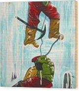 Ice Climbers Wood Print