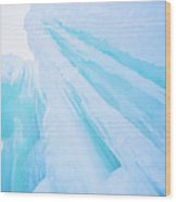 Ice Covered Mountains Good For Ice Climbing Wood Print
