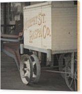 Ice Cream Cart Wood Print