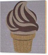 Ice Cream Emoji Wood Print