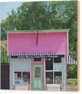 Ice Cream Parlor Wood Print