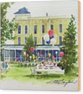 Ice Cream Social And Strawberry Festival, Lakeside, Oh Wood Print