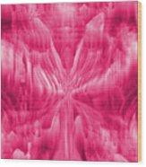 Ice Crystal Angel - Pink Wood Print
