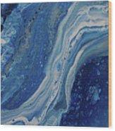 Ice Currents Wood Print