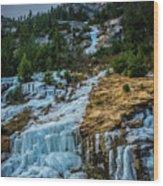 Ice Fall Wood Print